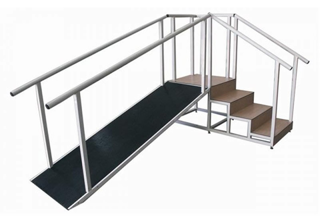 Escalera rampa para entrenamiento en marcha fisioequipos for Escalera madera portatil